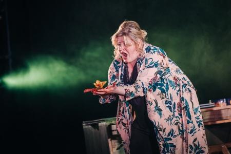 Karen Cargill as Judith in Bluebeard's Castle. Scottish Opera and Vanishing Point 2017. Credit Mihaela Bodlovic.